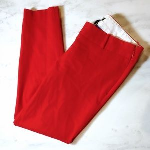 J Crew Red Stretch City Fit Crop Ankle Pants 4